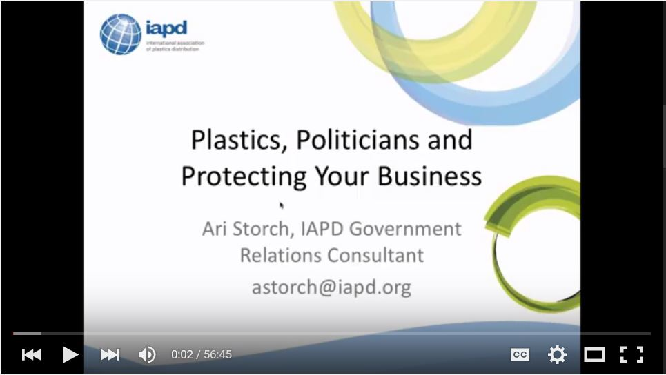 Webinar: Plastics, Politicians and Protecting the Industry