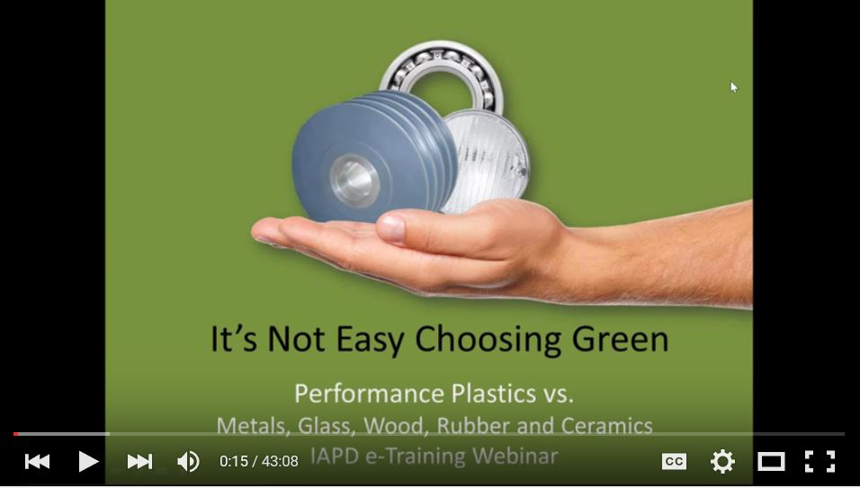 IAPD Webinar: It's not Easy Choosing Green