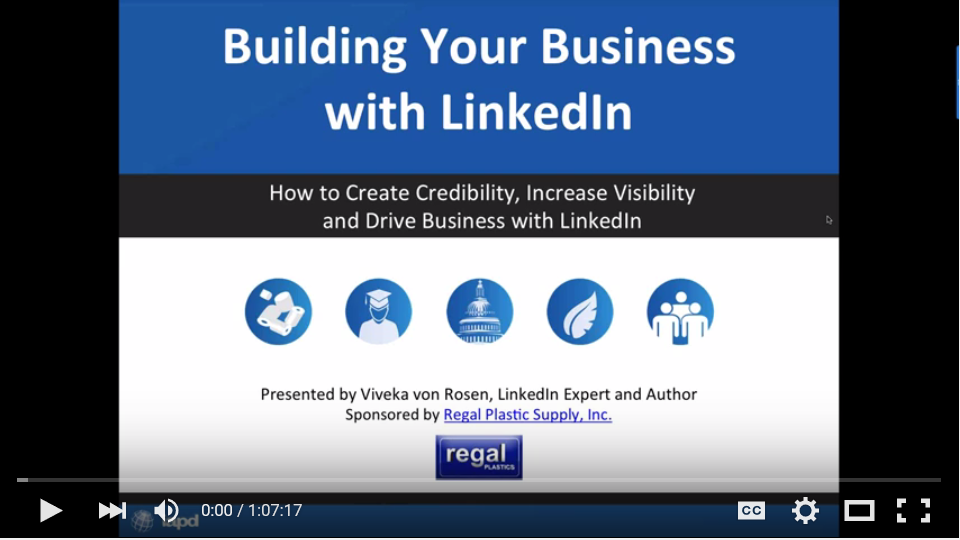 IAPD Webinar: Building Your Business with LinkedIn