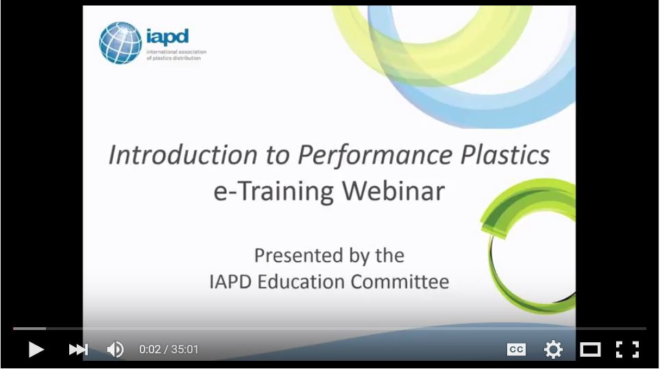 IAPD Webinar: Introduction to Performance Plastics
