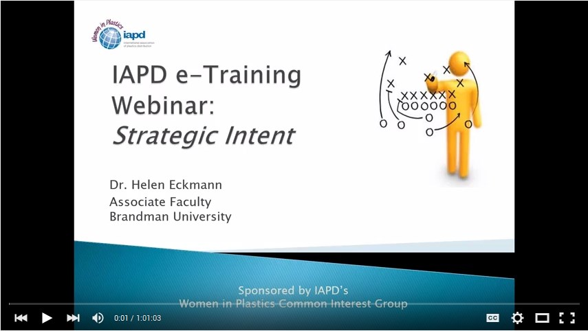 IAPD Webinar: Strategic Intent